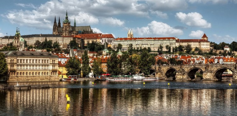 vltava Prague and castles views