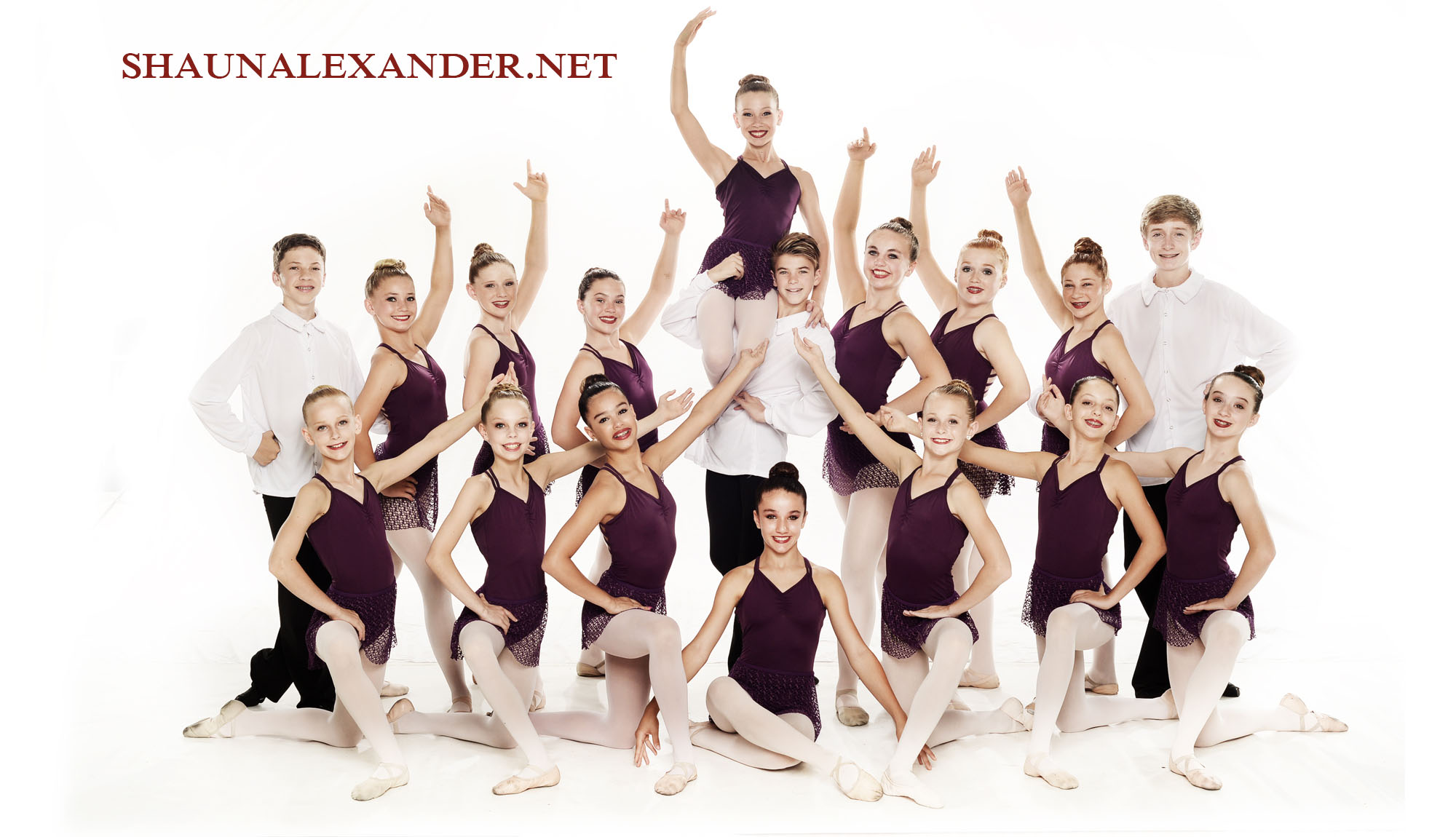 young Ballet dancers group photo