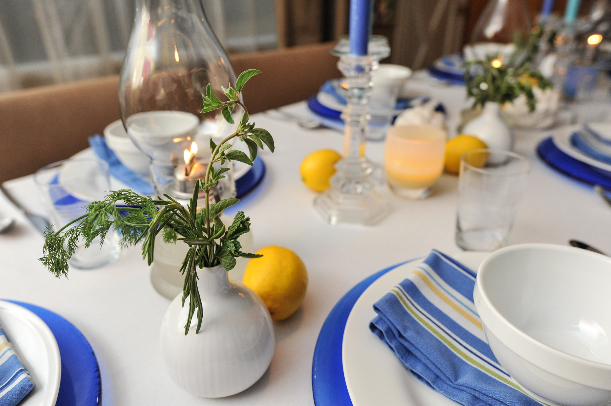 Blue And Yellow Table Settings Loris Decoration : greek table setting decorations - Pezcame.Com