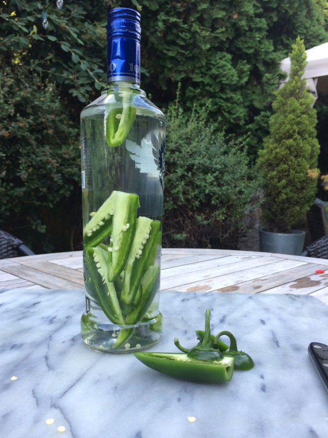 Jalapeño infused vodka