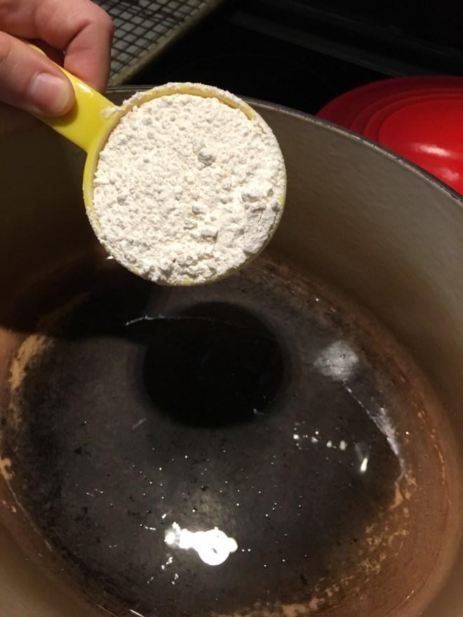 2 Add the flour