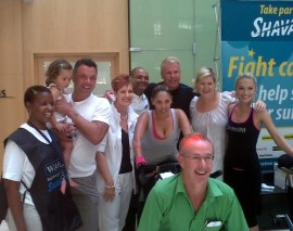 Marc Batchelor, Mark Fish, Shawn Bartlett, Melinda Bam (Miss SA), Rachel Wall Rob Dalton & Gloria Marupi