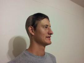 Richard's dare: 3rd crazy hairdo