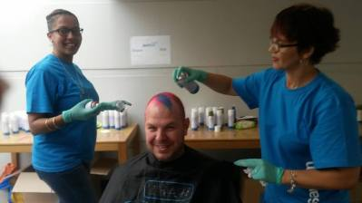 Sanlam Head Office CANSA Shavathon 2015 02