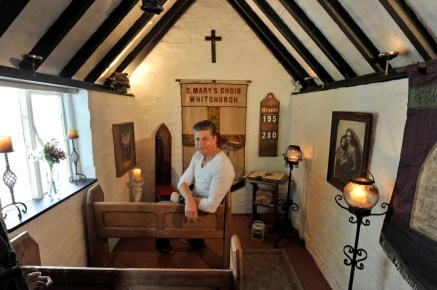 The Haunted Chapel from Warwickshire is a finalist in this year's annual 'Shed of The Year' competition sponsored by Cuprinol.