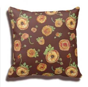 Ranunculus-Chocolate-Pillow