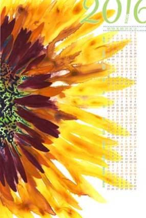 2016 Sunny Tea Towel, 27 x 18. © 2015 Sheila Delgado. Available at Spoonflower.com