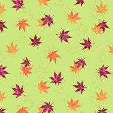My entry, Pattern design - Kaede Ha (Maple Leaf). Watercolor leaves in shades of orange, red and Merlot on pale yellow green. © 2016 Sheila Delgado