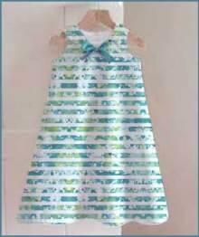 Splatter Stripe, youth dress mock-up