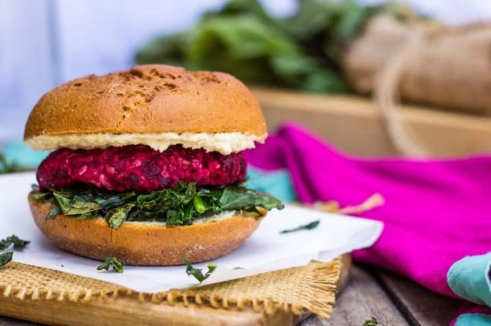 ... Chickpea Burgers with Crispy Kale & a Thyme Tahini Sauce {gf+v} - She