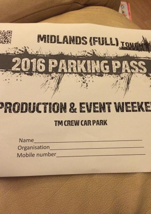 fruit shoot mini mudder parking pass