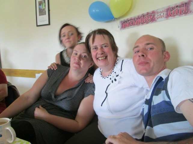 My mum, my sister, Stacy, my brother, James and my niece, Chloe
