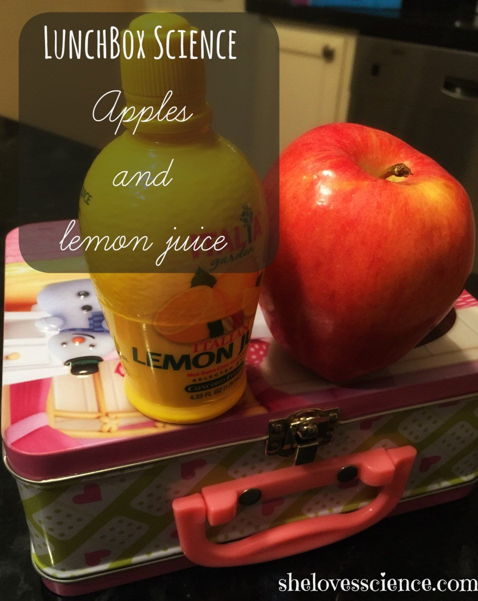 Why does lemon juice keep apple slices from turning brown?