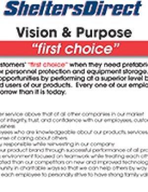 Tanks Direct Vision Statement