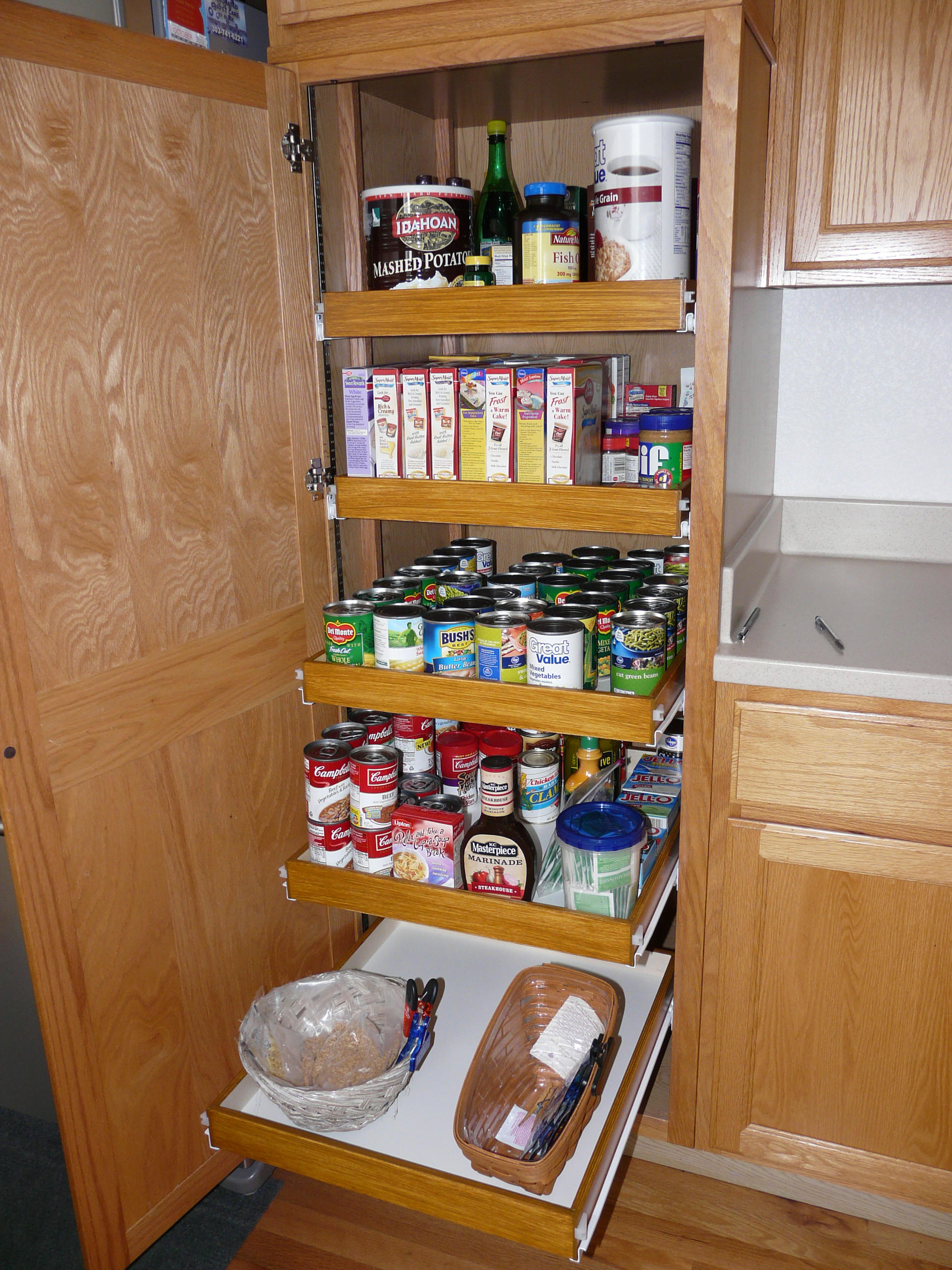 pantry kitchen cabinet shelves