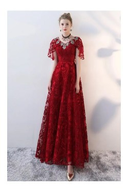 Small Of Long Red Dress