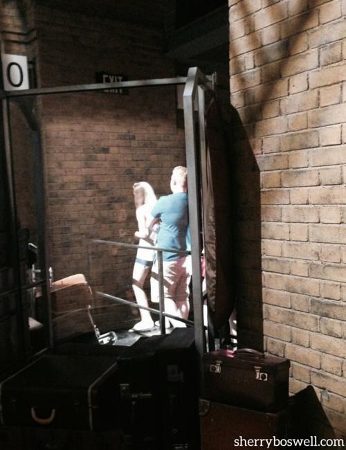 Walking through the brick walls at Platform 9 3/4