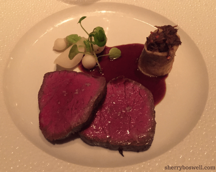 dine at Remy on your Disney cruise Kobe beef