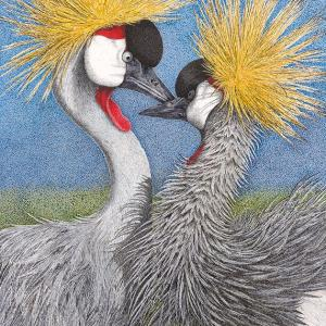 Sherry Steele Artwork - Let Me Call You Sweetheart | Grey Crowned Cranes