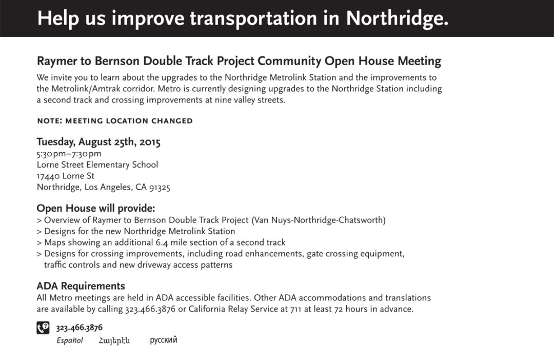 Attention – Double Track Meeting – August 25th