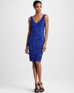 Buy Theia – Sequined Sheath Dress