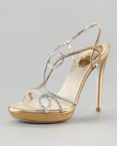 Rene Caovilla - Platform Strass Sandal