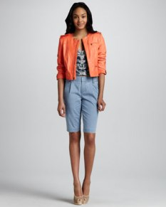 Alice + Olivia – Cropped Zipper Jacket