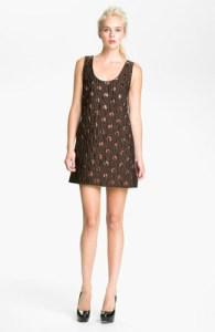 Marc Jocbs' Bronze/Brown Polka Dot Shift Dress