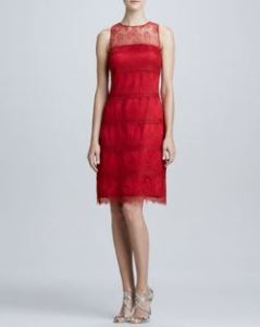 Kay Unger New York - Illusion Lace Cocktail Dress
