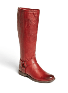 Frye Phillip Riding Boots in Burn Red