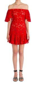 Valentino Off-the-shoulder Ruffle Tunic Dress