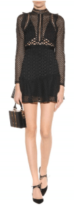 Self-Portrait Hall Lace Mini Dress