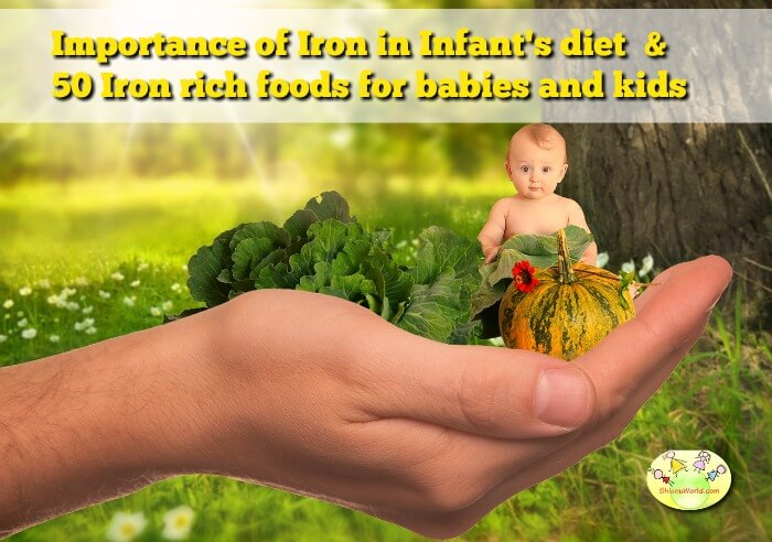 Importance of Iron in Infant's diet & 50 Iron rich foods for babies & kids
