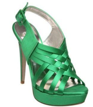 green-satin-sandals