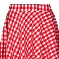 Shoeper Style | Red gingham circle skirt, three ways