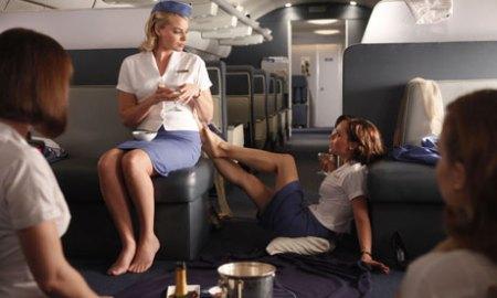 Un momento de Pan Am, con dos de sus protagonistas