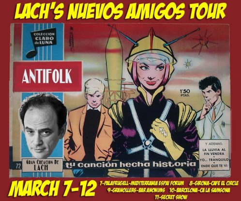 Cartel promocional de la gira de Lach