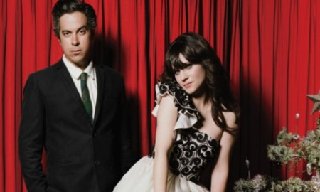 M Ward & Zoey Deschanel, posando para Autumn De Wilde