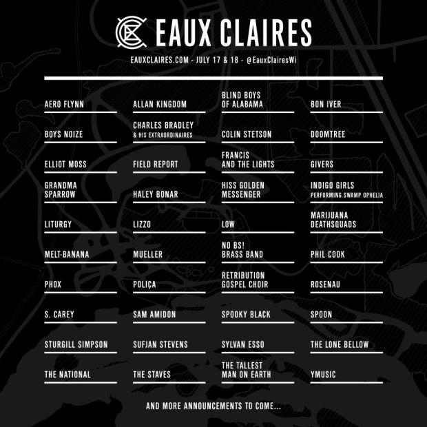 Lineup oficial del festival