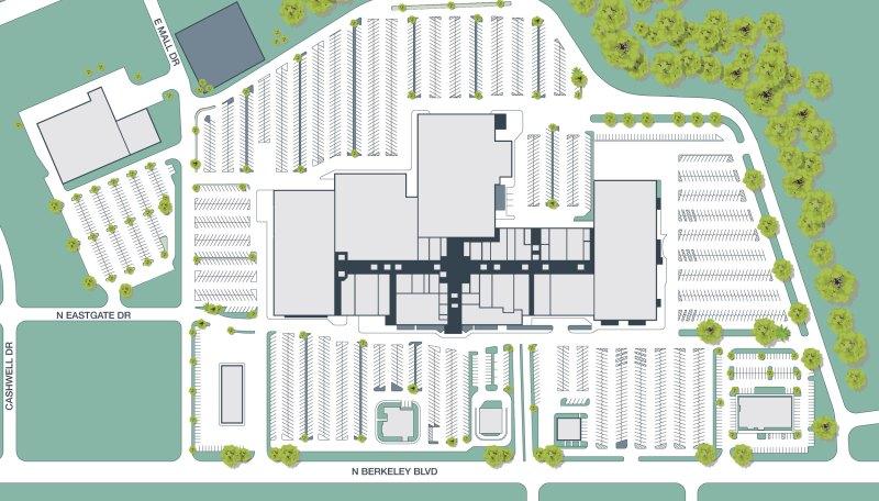 Large Of Burlington Mall Map