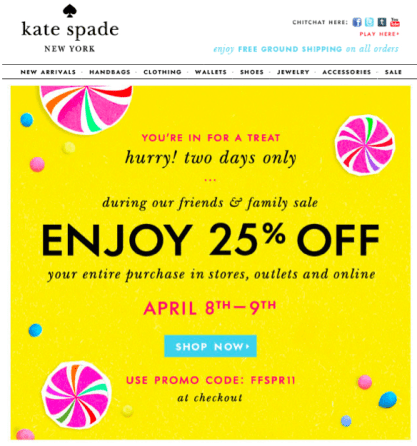 Kate Spade Friends & Family Sale