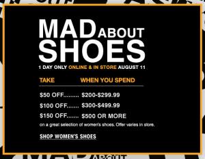 Bloomingdale's Shoe Sale