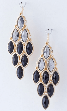 Black Diamond Misha Chandelier Earrings