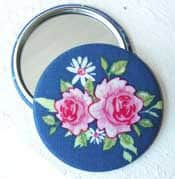 Floral Fabric Pocket Mirror - Stocking Stuffers for Women - FantabulouslyFrugal.com 2012 Holiday Gift Guide - #giftguide #stockingstuffers
