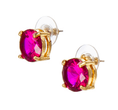 Fuchsia Stud Earrings from Target