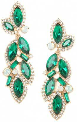 BaubleBar Green Marquise Drops