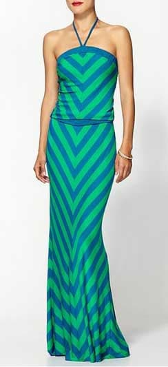 Hive & Honey Chevron Striped Maxi Dress from PiperLime
