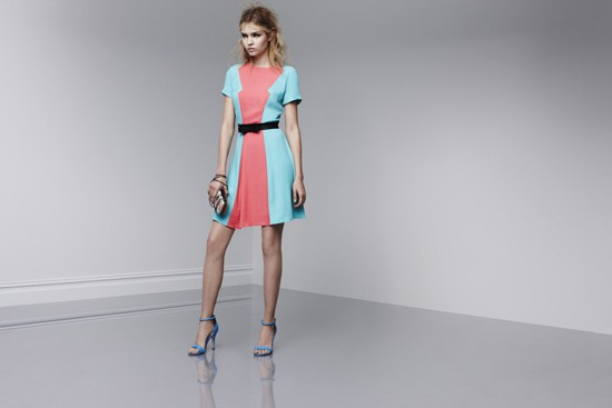 Prabal Gurung for Target Short-sleeve dress in Calypso Coral/Atlantis