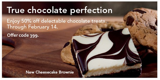 Starbucks Coupon - 50% off chocolate treats through Valentine's Day