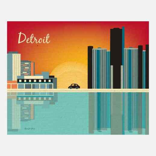 Detroit Print by Loose Petals
